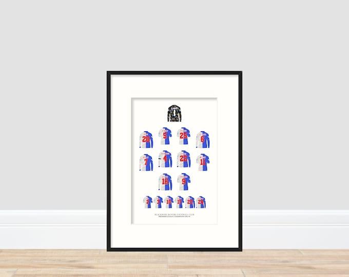 Blackburn Rovers - Premier League Champions 1994/95 A4 Print