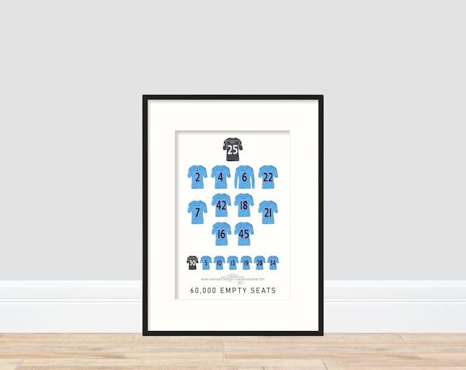Manchester City - 6-1 A4 Print