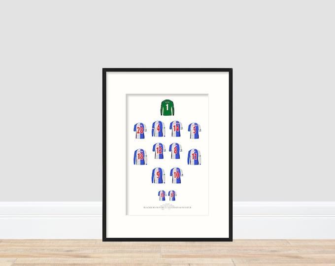 Blackburn Rovers - League Cup Winners 2002 A4 Print
