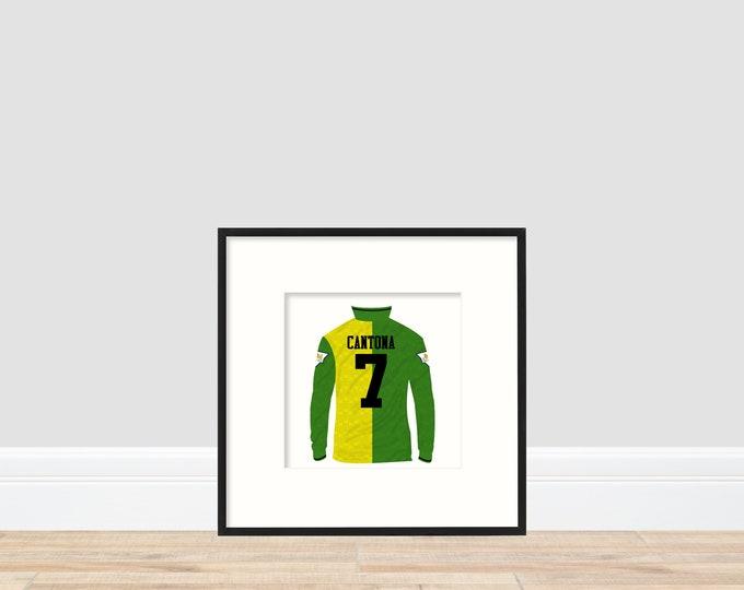 Manchester United - Cantona 20cm x 20cm print