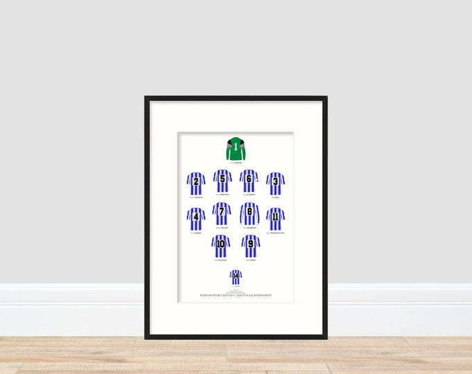 Sheffield Wednesday - League Cup Winners 1991 A4 Print