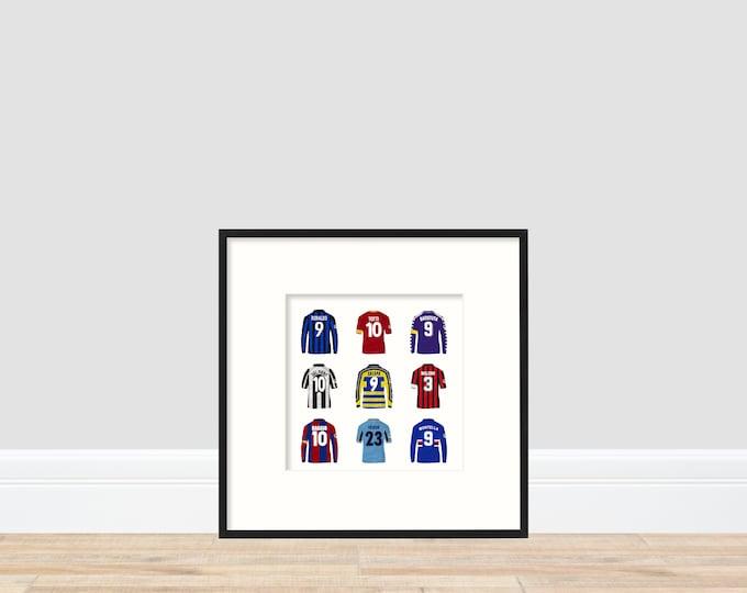 Serie A Superstars A4 Print