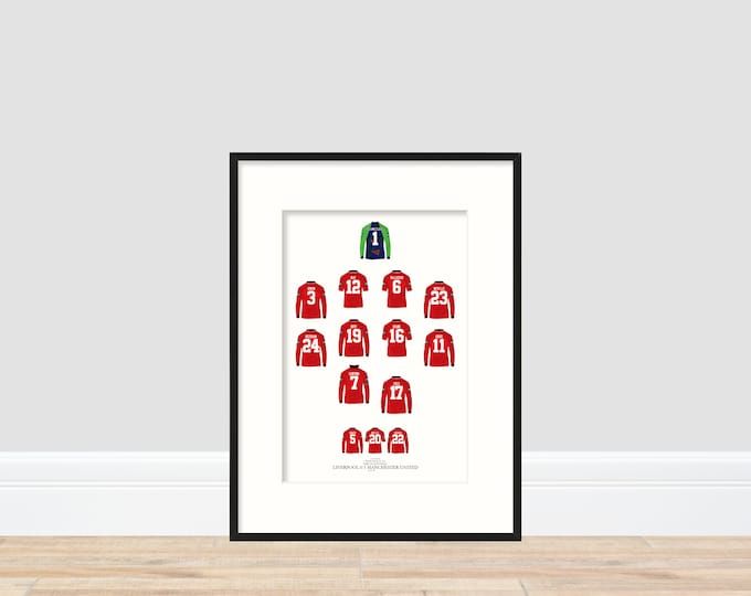 Manchester United - FA Cup Winners 1996 A4 Print