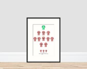 Brentford - 2-0 Win Vs Arsenal A4 Print