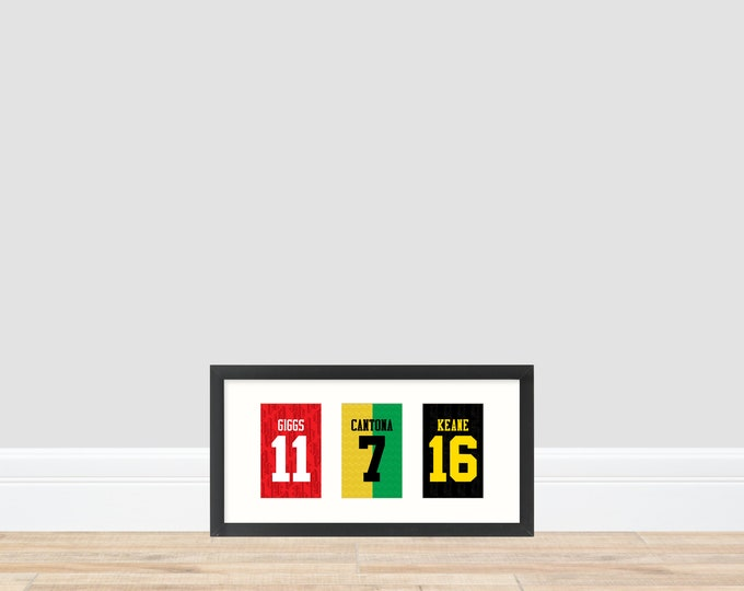 Manchester United - Back to the Old Skool 1990s Prints
