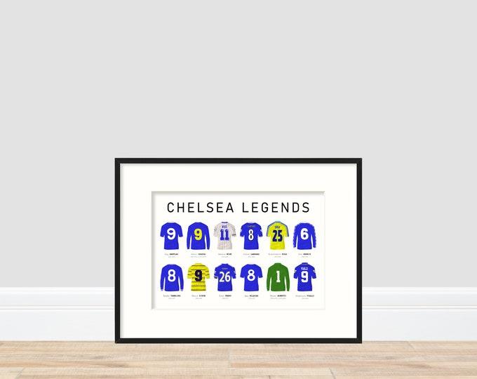 Chelsea Legends A4 Print