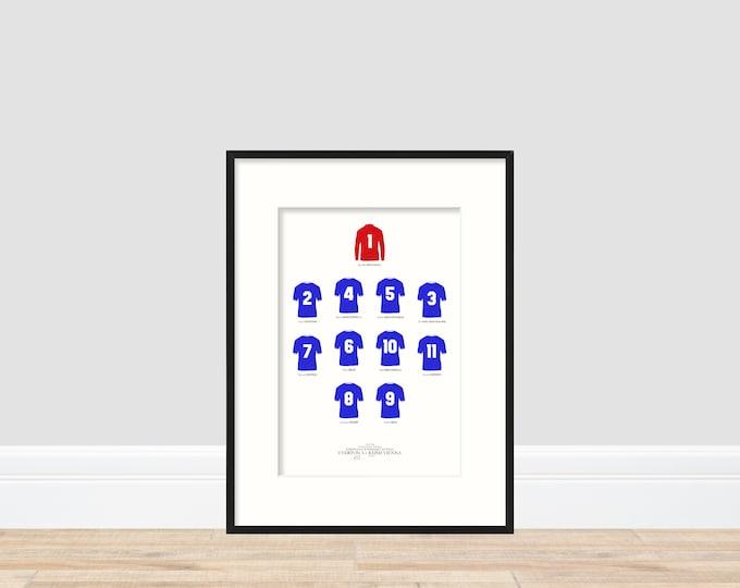 Everton - European Cup Winners Cup 1985 A4 Print