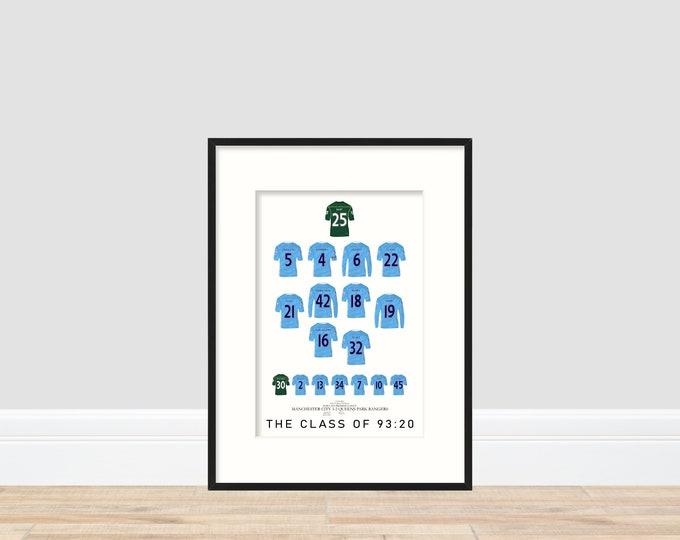 Manchester City - Champions 11/12 A4 Print