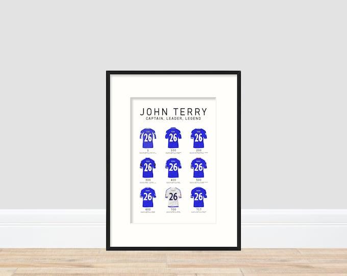 Chelsea - John Terry A4 print