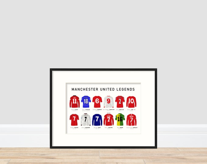 Manchester United Legends A4 Print