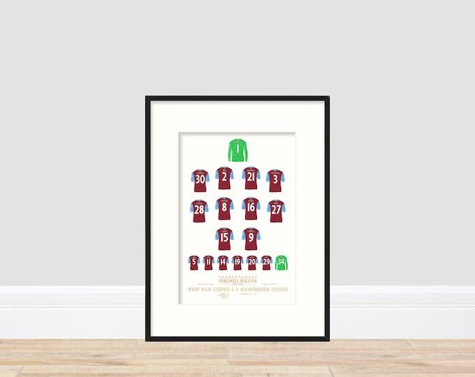 West Ham United Farewell Boleyn A4 Print