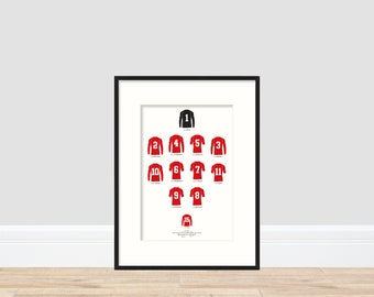 Wales - Wales 2-1 Italy A4 Print