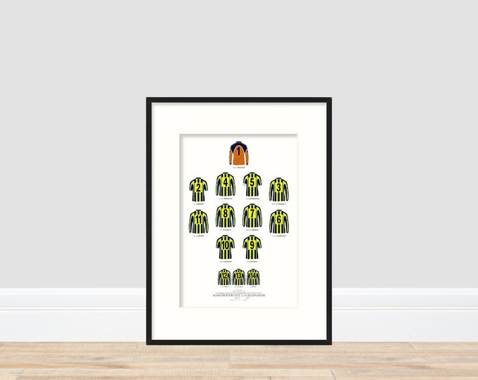 Manchester City - The Playoff 1999 A4 Print