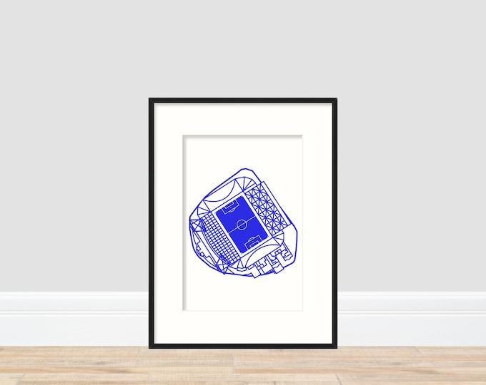 Chelsea - Stamford Bridge A4 Print