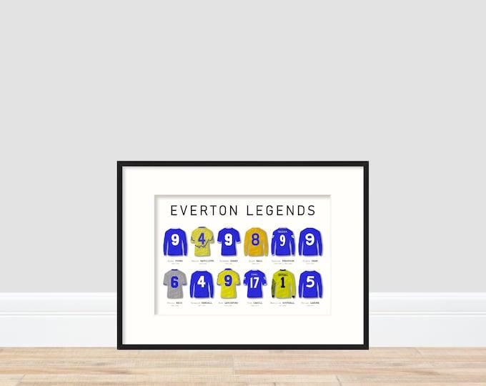 Everton Legends A4 Print