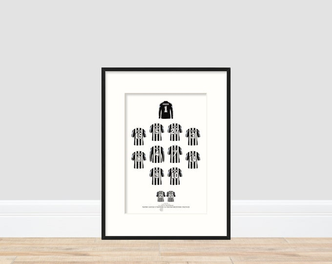 Newcastle United - Howay 5-0 1996 A4 Print