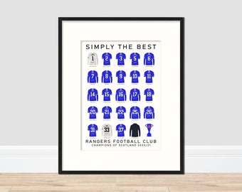 Rangers - Champions 20/21 A3 Print