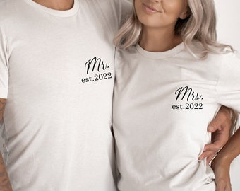 Mr and Mrs Shirt, Mr and Mrs, Just Married Shirt, Wedding Shirt, Wife And Hubs Shirts, Just Married Shirts, Mr and Mrs,Hubby Wifey Shirt