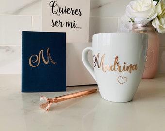 Madrina Proposal Gift, Godmother Box, Godmother Gift Box, Godmother Proposal, Personalized Godmother Gift, godmother proposal gift set