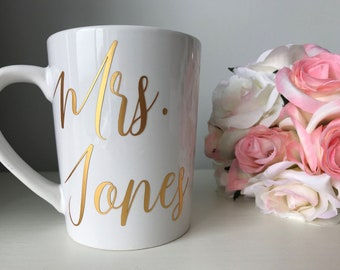 personalized mrs coffee mug engagement gift for bride to be future mrs coffee mugs engagement mugs bridal shower gift christmas gift