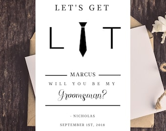 groomsmen invitation etsy