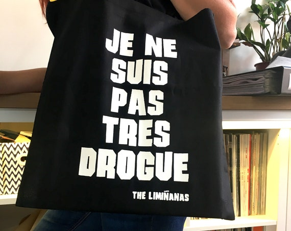 New! Cotton' canvas Black.  Tote Bag. I'm not very druglike