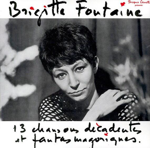 Lp Vinyl Brigitte Fontaine- 13 chansons décadentes et fantasmagoriques