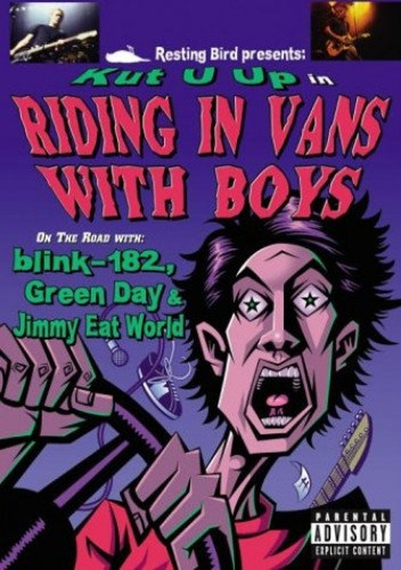 Riding in van with boys- Various - DVD pal- region 2-Blink-Green Day-Jimmy eat the world