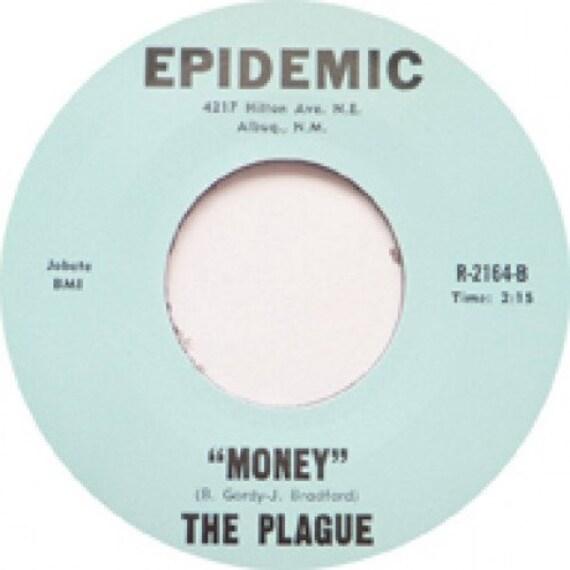 Repro garage punk 6O's - 45t/7' No sleeve- Plague- Go Away/Money