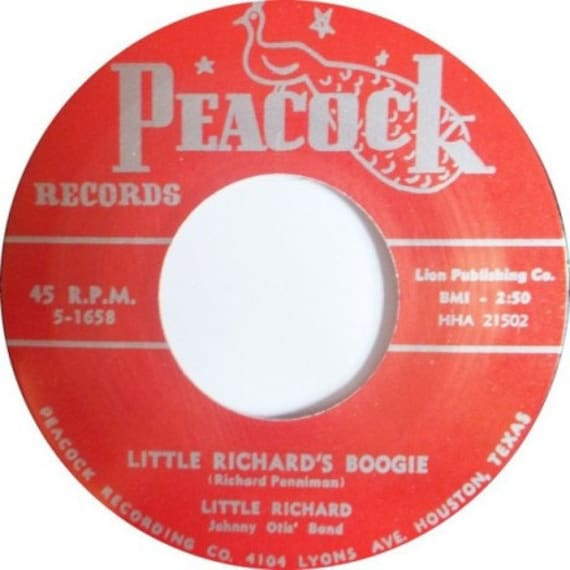 Repro RNR- 45t/7' No sleeve -Little Richard-Little Richard boogie/Directly from my heart to you