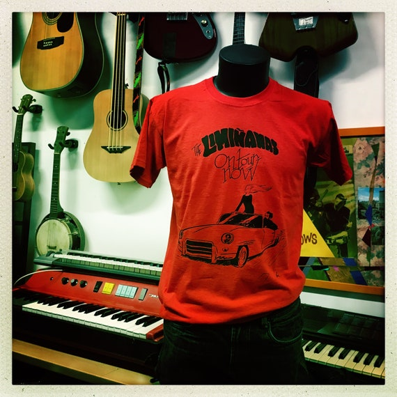 "Men's T-shirt ""The Limianas on tour"" - red - Artwork Elric Dufau"