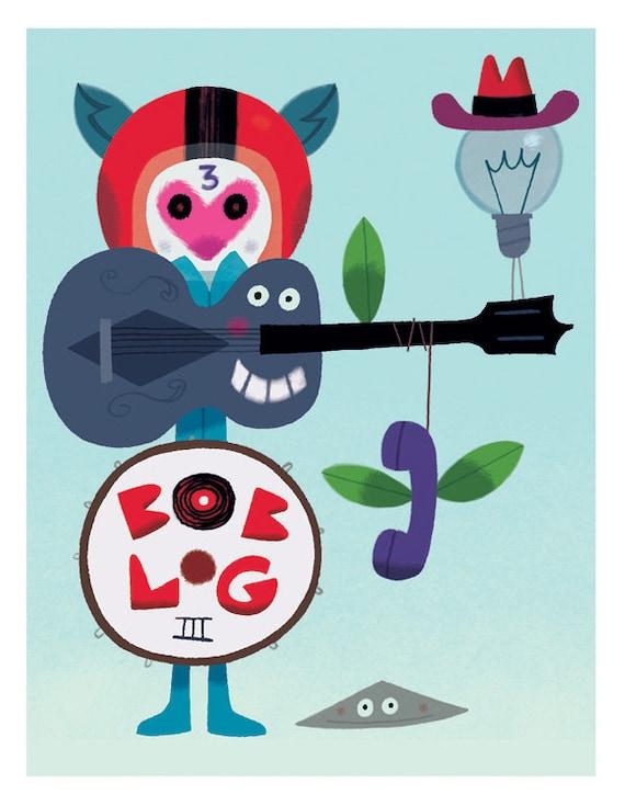 Postcard- Bob Log 3-by Vincent Mathy