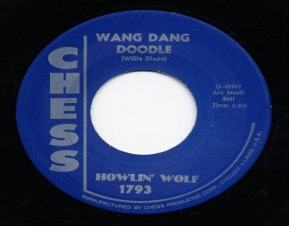 Repro RNR/RNB - 45t/7' No sleeve -Howlin Wolf- Down in the bottom/Wang dang doodle