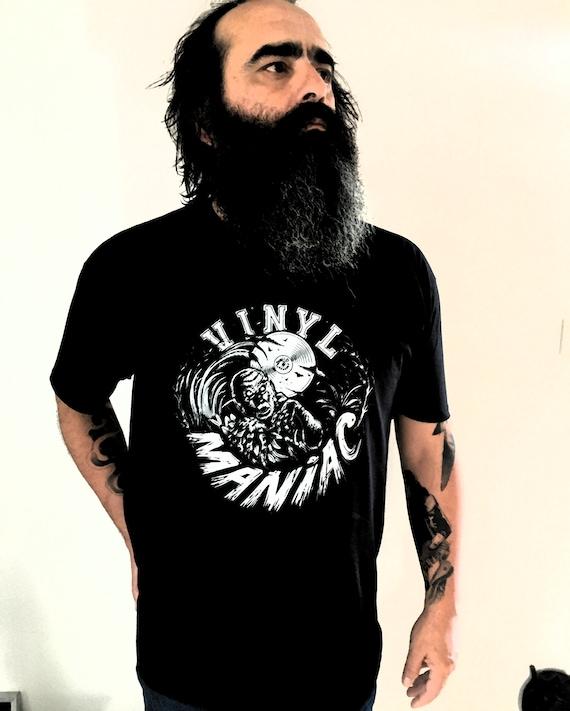 MEN's T-shirt VINYL MANIAC- Artwork Aurelio!