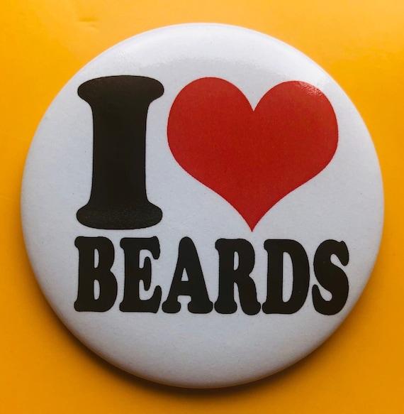 Badge-I love Beards -  56 mm