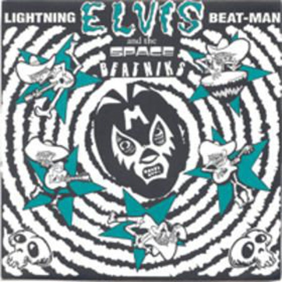 "Lightning Beat - Man And The Space Beatniks - A tribute to  Elvis - Vinyl 7""/45T - Zombie dance records-"