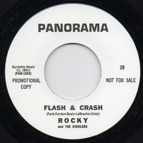 Repro garage punk 6O's - 45t/7' No sleeve- Rocky and the Riddlers- Flash and crash/Batman