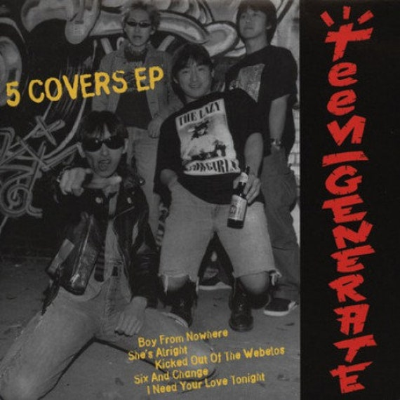45t/7'-  Teengenerate 5 Covers EP- Crypt Records