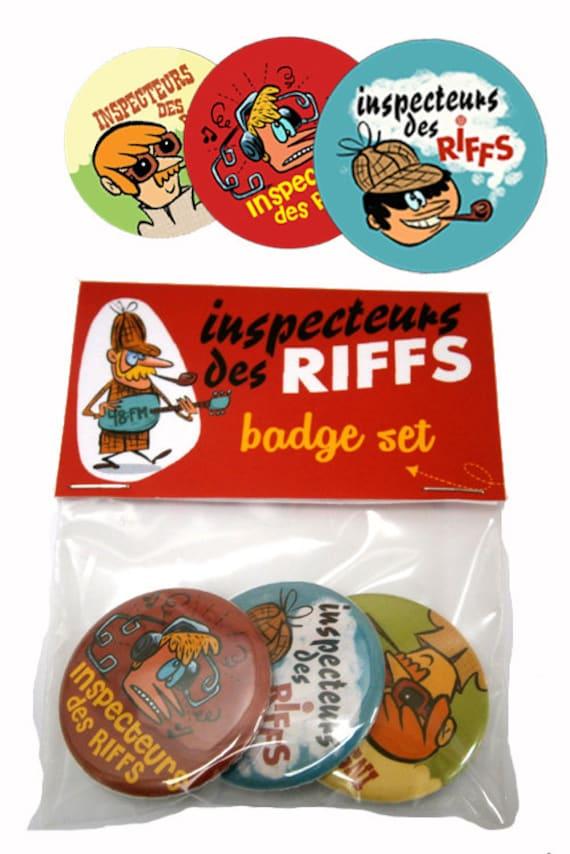 "Set of 3 Badges ""Inspectors of Riffs"""