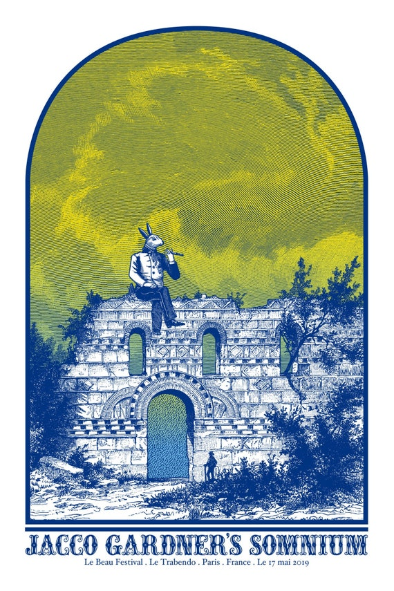 Jacco Gardner- Trabendo- Serigraphie 2 couleurs-Cyrille Rousseau- Limited