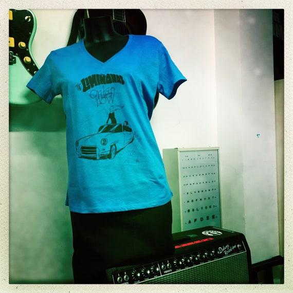 "Women's T-shirt ""The Limianas on tour"" - blue - Artwork Elric Dufau"