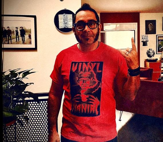 VINYL MANIAC Men's T Shirt!  Artwork Sadhu the Serbian- Limited- RED