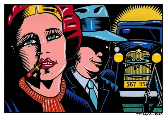 Thierry Guitard - Screen printing- Sticker format - limited