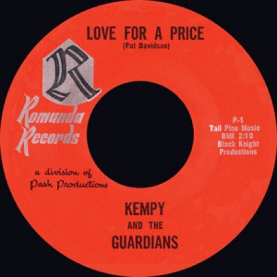 Repro garage 60 - 45t/7' No sleeve -Kempy & The Guardians /Love For A Price