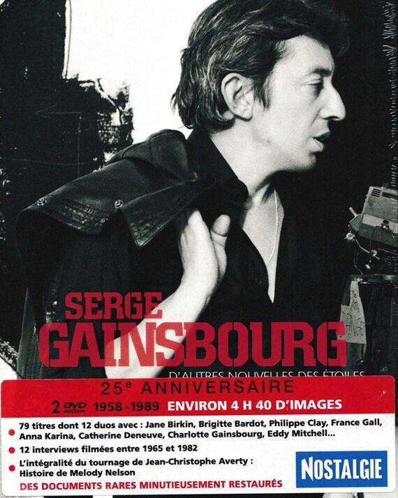 Serge Gainsbourg- D'autres nouvelles des étoiles- DVD X2 1958/1989 All Zone Pal