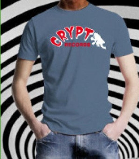 T Shirt  homme - Crypt Records- Blue denim