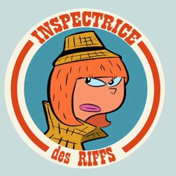 Badge-Inspector of riffs - 38 mm