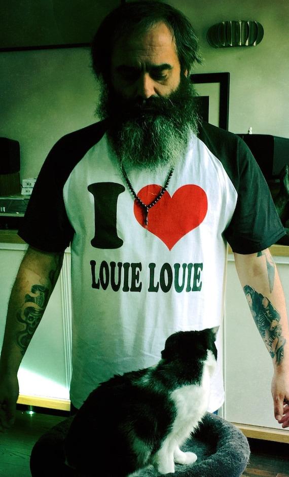 Men's T Shirt - I love Louie Louie- Limited- White and black-Raglan