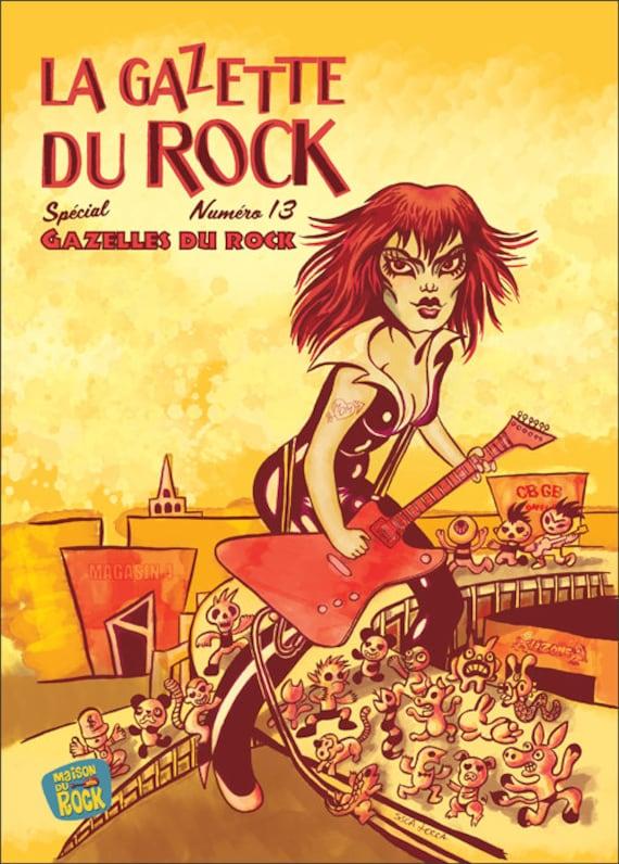Rock numero 13-Gazelles rock gazette -Cover by Sisca Locca