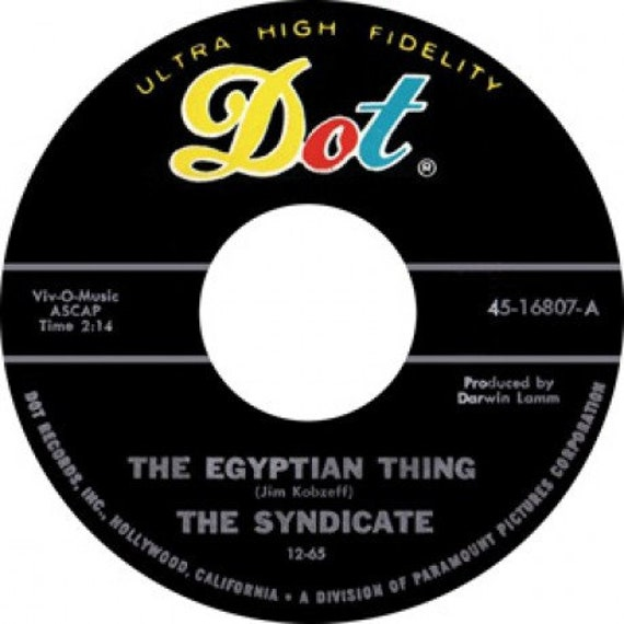 Repro garage punk 6O's - 45t/7' No sleeve- Syndicate- The Egyptian Thing/She haunts you